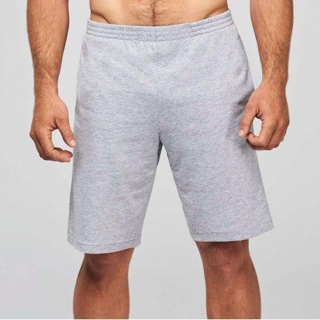 Short de sport homme en coton léger et souple, 185 g/m²
