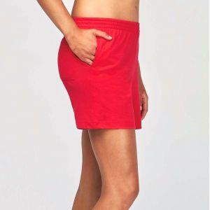 Short de sport femme en coton léger et souple, 185 g/m²