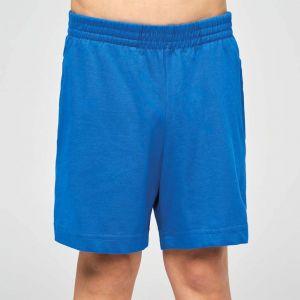 Short de sport enfant en coton léger et souple, 185 g/m²