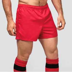 Short de rugby avec ceinture intérieure antidérapante, 220 g/m²