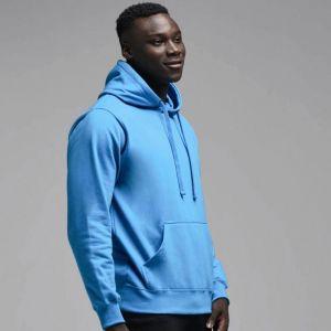 Sweat-shirt sans marque à capuche doublée en polycoton, 280 g/m²
