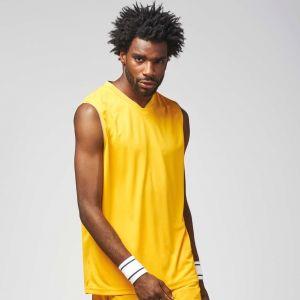 Maillot adulte de basketball col en V à séchage rapide, 150 g/m²