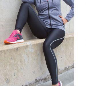 Legging femme respirant Quick Dry avec logo réfléchissant
