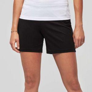 Short de jeu pour femme, ceinture élastiquée avec cordon de serrage, 140 g/m²