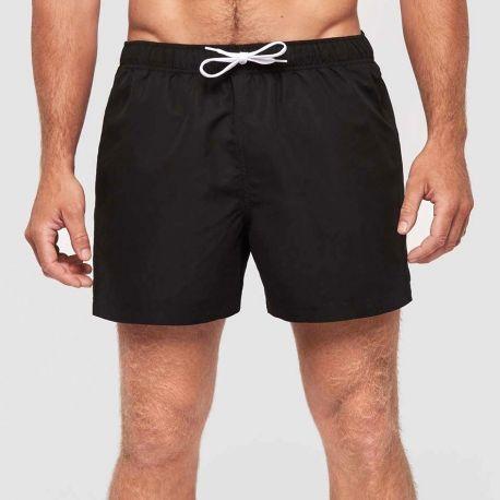 Short de bain, ceinture élastiquée avec cordon de serrage contrasté, 110 g/m²