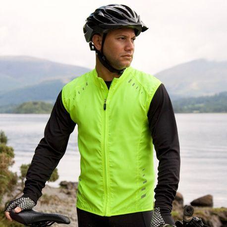 Veste de vélo zippée Crosslite réfléchissante sans manches sans poches
