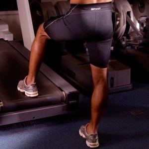 Short d'entraînement de sprint homme athlétique à tissu extensible