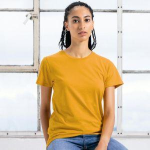 T-shirt femme moderne col rond en coton BIO, 160 g/m²