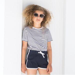 T-shirt marinière enfant en coton doux jersey, 160 g/m²