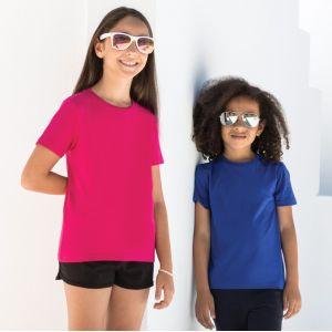 T-shirt stretch enfant moderne en coton et élasthanne, 165 g/m²