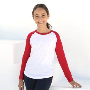 T-shirt baseball à manches longues pour enfant, 140 g/m²
