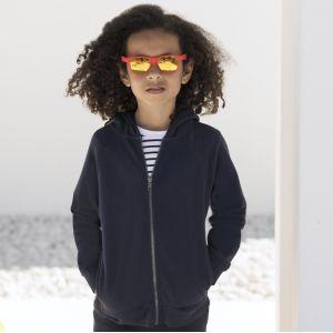 Sweat à capuche zippé enfant moderne coupe slim, 250 g/m²