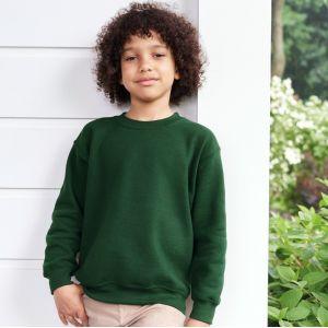 Sweat-shirt manches droites enfant col rond Heavy Blend, 280 g/m²