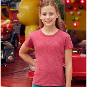 T-shirt coupe fille en coton jersey fil Belcoro, 165 g/m²