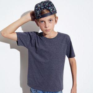 T-shirt coupe garçon en coton, étiquette détachable, 150 g/m²