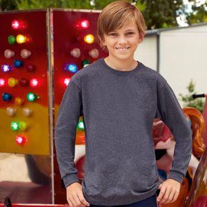 T-shirt enfant manches longues en coton idéal pour impression, 165 g/m²