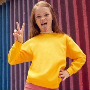 Sweat-shirt manches droites enfant en polycoton, 280 g/m²