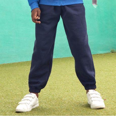 Jogging pour enfant serré aux chevilles en polycoton 280 g/m²