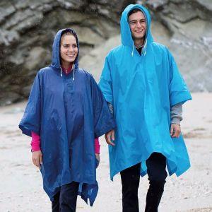 Poncho adulte, cape de pluie en PVC, imperméable et coupe-vent