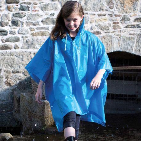 Poncho enfant, cape de pluie en PVC, imperméable et coupe-vent