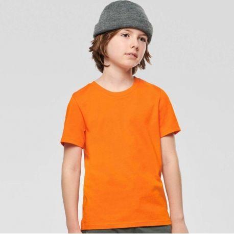 T-shirt enfant en coton BIO col rond manches courtes, 140 g/m²