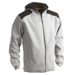 Sweat de travail à capuche, 70% coton, 30% polyester, 330 g/m²