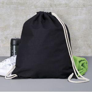 Sac à dos coton avec bretelles en cordon, 140 g/m²