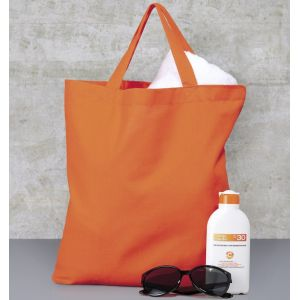 Tote bag, sac shopping coton, anses courtes, 140 g/m²