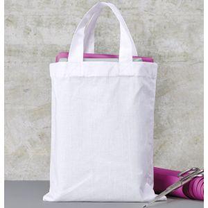 Tote bag en coton, anses courtes, 140 g/m²