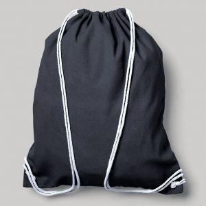 Sac à dos en coton canvas avec bretelles en cordon, 200 g/m²