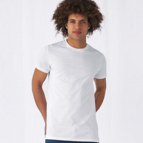 T-shirt homme col rond, manches courtes, coton 145 g/m²