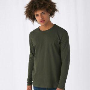 T-shirt homme manches longues en coton col rond, 145 g/m²