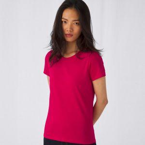T-shirt femme coton épais col rond, manches courtes, 185 g/m²