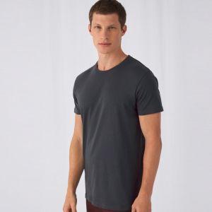 T-shirt homme épais col rond sans étiquette en coton bio, 175 g/m²