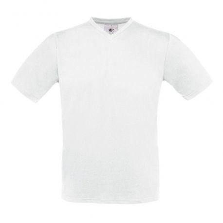 T-shirt col V manches courtes en coton doux ringpsun, 145 g/m²