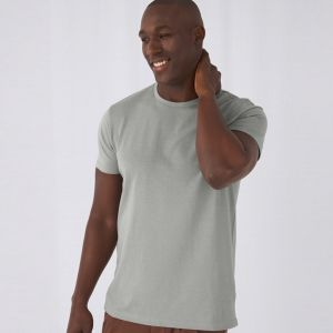 T-shirt homme col rond sans étiquette, coton bio ringspun, 140 g/m²