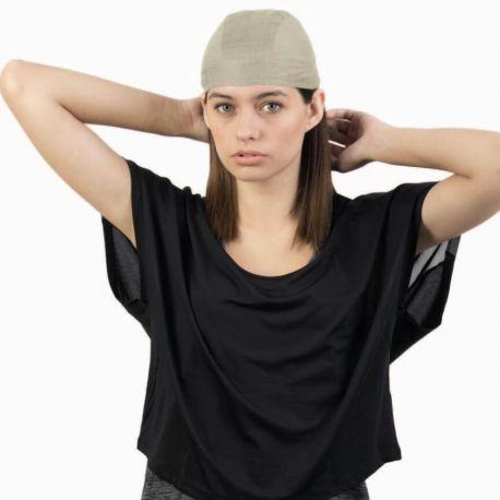 Chapeau bandana en coton brossé avec lanières, 180 g/m²