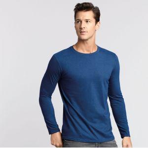T-shirt homme manches longues en coton ringspun softstyle, 150 g/m²