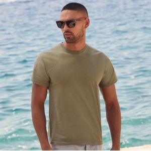 T-shirt homme original en coton col rond, manches courtes, 145 g/m²