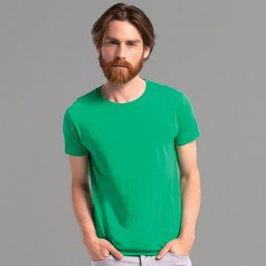 T-shirt homme iconic, coupe moderne ajustée en coton doux, 150 g/m²