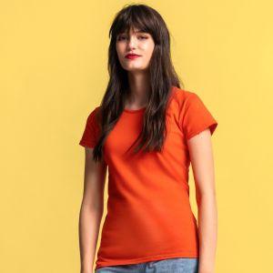 T-shirt femme iconic, coupe moderne ajustée en coton doux, 150 g/m²