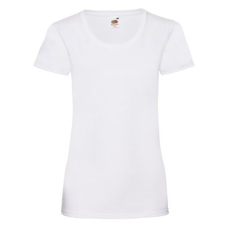 T-shirt femme col rond valueweight en coton, manches courtes, 165 g/m²