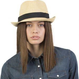 Chapeau Panama en fibre de papier avec bande de tissu amovible