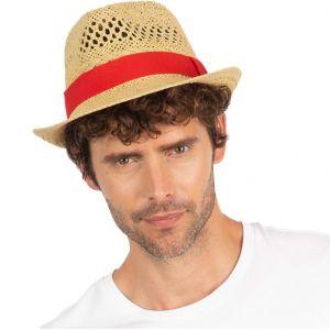 Chapeau de plage ou festival style Panama en fibres végétales