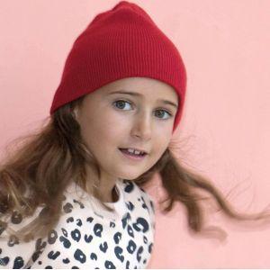 Bonnet enfant tricoté sans revers en acrylique