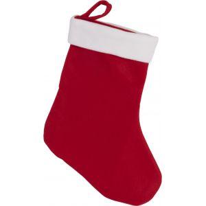 Botte de Noël rouge avec bordure blanche, lien d'accroche