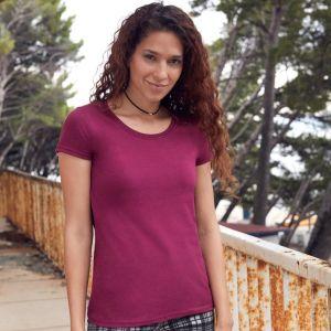 T-shirt femme Premium en coton ringspun épais lavable à 60°C, 195 g/m²