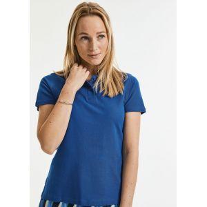 Polo femme en coton très résistant, lavable jusqu'à 60°C, 215 g/m²