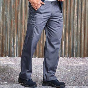 Pantalon de travail poche cargo coupe moderne, 245 g/m²