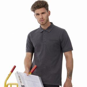 Polo de travail avec poche poitrine lavable à 60°C, 200 g/m²